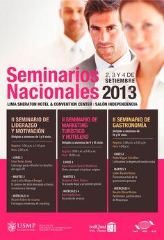 Ahora es turno de los seminarios de la Escuela Profesional de Turismo y Hotelería.