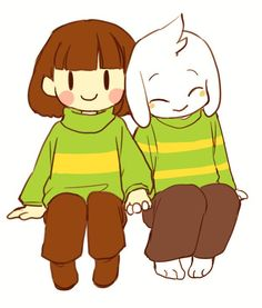 Chara and Asriel by semi. (@semi_kon) | Twitter Adorable Adopted Siblings!