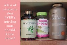 Naptime Tales: EVERY Nursing Mom Should Know About These Helpful Vitamins!