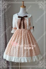 Cotten Sweet Magic Tea Party Summer OP Print Knot JSK Lolita Dress