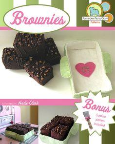 DIY Felt Brownie + Felt Brownie Pan + Felt Spatula