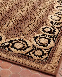 Shop Roman Leopard Rug, Round from Safavieh at Horchow, where you'll find new lower shipping on hundreds of home furnishings and gifts. Leopard Rug, Leopard Spots, Leopard Pattern, Leopard Decor, Cheetah Print, Safari Room, Hand Tufted Rugs, Indoor Rugs, Hand Knotted Rugs