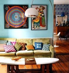 my ideal living room. bohemian/surf chic with a little vintage but still uber classy. some day...