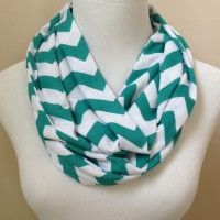 Grace's Boutique: Teal Chevron Infinity Scarf only $18.50