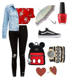 """""""Untitled #34"""" by kacenka12 on Polyvore featuring Vans, Jessica Carlyle, Kate Spade, OPI, Miss Selfridge, Barbour International, Missoni and rainydayoutfit"""