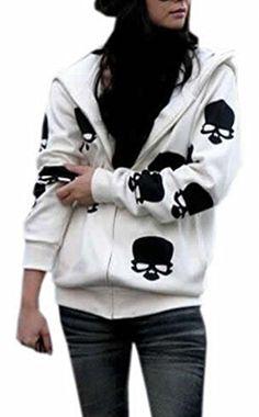xtsrkbg Womens Autumn Stripe Loose Hooded Coat Hoodie Sweatshirt