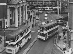 Coventry buses 1970's Approaching Broadgate. Many a trip to town and school on these.