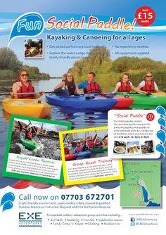Summer The popular Fun Social Paddle Summer Poster, Fire Safety, Canoe, Summer 2014, Paddle, Kayaking, Popular, Baseball Cards, Adventure