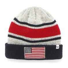 9d73b4dc015c0 Operation Hat Trick Oht Broten Cuff Knit Gray 47 Brand USA Flag Hat