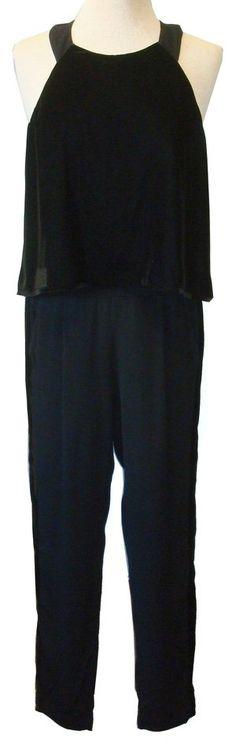 Ella Moss Black Velvet Jumpsuit