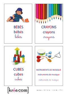 Toy Box Labels – Montessori Inspiration krea-com. Classroom Labels, Montessori Education, Social Activities, Maria Montessori, Preschool Kindergarten, Learn French, Diy For Kids, Kids Learning, Literacy