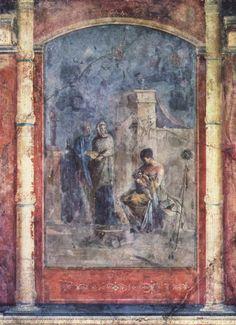 Leucotea amamantar al bebé Dionisio (Baco), fresco, 20 dC, Roma, Palazzo Massimo alle Terme. En la mitología griega Leucótea (en griego , 'diosa blanca') era uno de los aspectos bajo los que se conocía a una antigua diosa del mar. Las fuentes mitológicas coinciden en que fue una ninfa transformada.