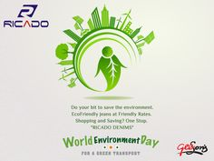 """World Environment Day: 5th June  Do your bit to save the environment.  EcoFriendly jeans at Friendly Rates.  Shopping and Saving? One Stop.  """"RICADO DENIMS""""  #WorldEnvironmentDay #DenimLycra #Ricado #Cotton #Slimfit #Fit"""