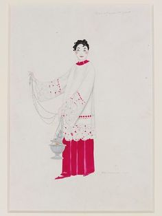 Costume design for Masque de Joie by Umberto Brunelleschi, probably for the Folies Bergeres, ca. Folies Bergeres, Soloing, Victoria And Albert Museum, Costume Design, Fairy, Collections, Costumes, Explore, Search