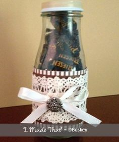 You're the 'Riesen' I learned so much this year? Starbucks Bottles, Baby Food Jars, Teacher Gifts, Mason Jars, Diy Projects, Craft Ideas, Diy Crafts, Crafty, Glass