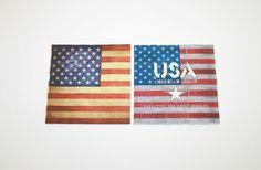 Lot 2 Serviettes en papier DRAPEAU AMÉRICAIN : Serviettage, Décopatch par boutique-creative-by-c-dona
