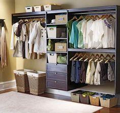 [Closets & Storages] Creative And Elegant Closet System Organization Ideas Design: Elegant Walk In Closet System Ideas With Cane Work Storage Basket