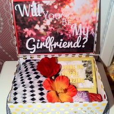 Updates from YouAreBeautifulBox on Etsy Gifts For Girls, Girl Gifts, Girlfriend Proposal, Will You Be My Girlfriend, Cute Romance, Romantic Proposal, Christmas Gifts For Girlfriend, Couple Ideas, Summer Gifts