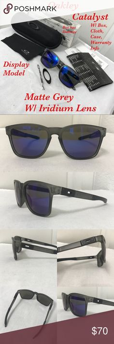 "73ef1d0718 New Oakley Catalyst (display model) Oakley Sunglasses ""Catalyst"" matte grey  frame"