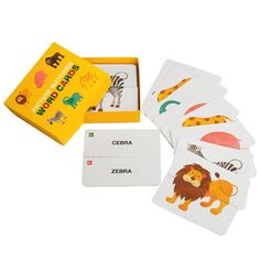 Picture Matching Word Cards: Animals - Toys - Paper CraftCanon CREATIVE PARK - free printable language cards for bilingual kids or teaching languages to small kids
