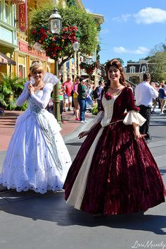 Belle and Cinderella - CAN WE TAKE A MINUTE TO TALK ABOUT THEIR DRESSES