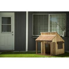 Save more by using my sponsored link above!  Does your dog dream of chasing rabbits in the wild West? We may not be able to provide the rabbits, but we can provide a taste of the wild West. With the Advantek saloon dog house, your dog will fall asleep ready for a good old-fashion show down between him and his target: the tennis ball. The saloon dog house is the first of Advantek's products to be made out of an attractive, sturdy and high-quality furniture-grade wood.