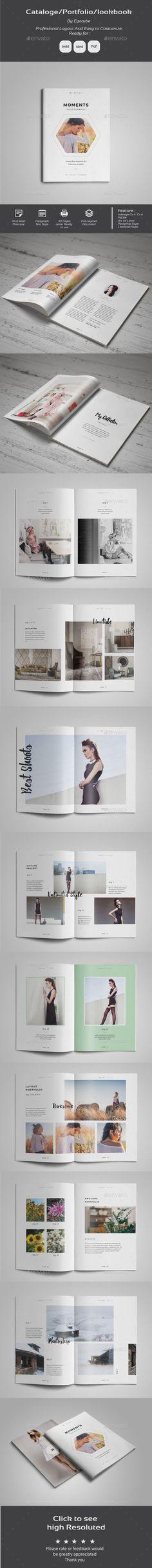 Indesign Portfolio Template InDesign INDD. Download here: http ...