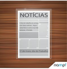 O Dia do trabalho já começa com boas notícias. #agencia #comunicacao #marketing #Namp