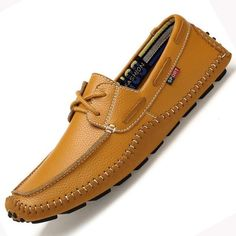 3173852c781 Big Size High Quality Genuine Leather Men Casual Shoes Soft Moccasins  Fashion Brand Men Flats Comfy Driving Boat Shoes 38-47