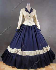 Civil War Victorian Gingham Ball Gown Day Dress 122 M Old Dresses, Pretty Dresses, Prom Dresses, Prom Dress Shopping, Online Dress Shopping, Vintage Gowns, Vintage Outfits, Victorian Fashion, Vintage Fashion