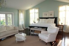pretty bedroom { benjamin moore  hc-144 palladian blue }