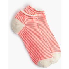 J.Crew Striped Ankle Socks ($6.89) ❤ liked on Polyvore featuring intimates, hosiery, socks, short socks, tennis socks, stripe socks, striped ankle socks and striped socks
