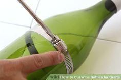 Image titled Cut Wine Bottles for Crafts Step 4 glass bottle crafts How to Cut Wine Bottles for Crafts Empty Wine Bottles, Wine Bottle Art, Diy Bottle, Paint Wine Bottles, Liquor Bottle Lights, Wine Bottle Lanterns, Wine Bottle Chandelier, Bottle Wall, Lighted Wine Bottles