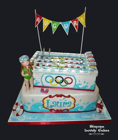 Swimming Pool Cake Ideas cosy swimming pool cake designs cute swimming pool design ideas Torta Piscina Olimpionica Swimming Pool Cake