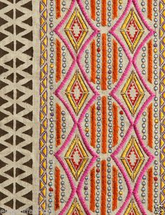 pollack-ethnic-chic-embellished-embroidered-linen-fabric-hot-pink-mmulti-3.jpg 422×549 pixels