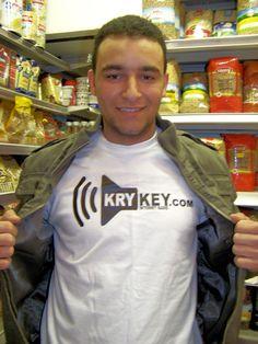 Ahmed in London who won the KryKey t-shirt on London Web Radio - #Pinterest #KryKey