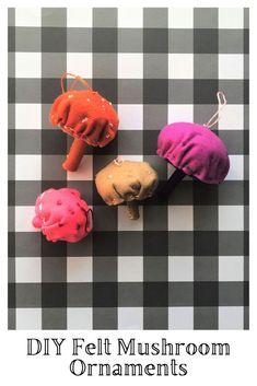 DIY Felt Mushroom Ornaments Felt Mushroom, Stuffed Mushroom Caps, Stuffed Mushrooms, Whimsical Christmas, Easy Christmas Crafts, Simple Christmas, Felt Diy, Craft Tutorials, Cool Things To Make
