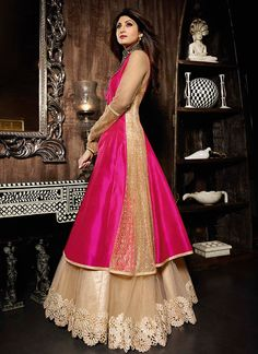 http://www.sareesaga.in/index.php?route=product/product&product_id=21434 Work	:	Embroidered Resham Work	Style	:	A - Line Lehenga Shipping Time	:	10 to 12 Days	Occasion	:	Wedding Ceremonial Fabric	:	Silk	Colour	:	Hot Pink For Inquiry Or Any Query Related To Product, Contact :- +91-9825192886, +91-7405449283
