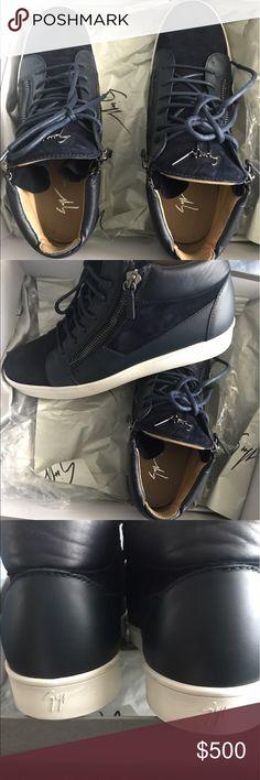 Giuseppe zanotti designer sneakers navy Giuseppe zanotti Design camoscio navy men, like new, worn only once. The picture speaks for itself Giuseppe Zanotti Shoes Sneakers