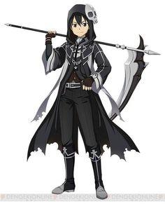 Sword Art Online Halloween Grim Reaper Gothic Kirito #swordartonline #KirigayaKazuto #YuukiAsuna #cosplay #costume #anime