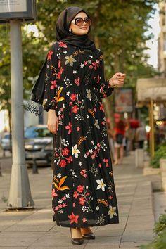525ffa9e878f57 Neva Style - Black Hijab Dress 78621S