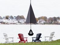 Enjoy the sound of the sea at home with a buoy bell. Each bell is carefully made to recreate the distinctive chime from various buoy bell locations along both coasts. The bells are made in Maine from recycled steel and built to last for at least 20 years of sea-inspired sound.