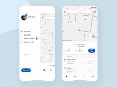 WiFi Map App Concept by Nick Koval on Dribbble Android App Design, Ios App Design, Web Design, Mobile Ui Design, User Interface Design, Ux Wireframe, App Map, Driver App, Iphone Ui