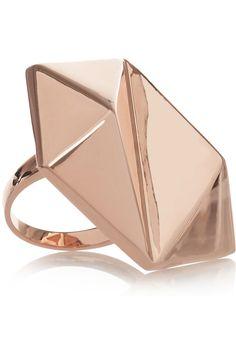 Eddie Borgo - rose gold-plated pyramid ring