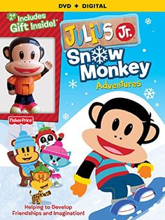 REVIEW AND GIVEAWAY - Julius Jr.: Snow Monkey Adventures DVD - Mom Knows It All. : Mom Knows It All.