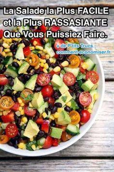 Cette salade est parfaite pour associer les saveurs du concombre, des tomates et de la coriandre. Elle est tellement savoureuse que vous allez vous surprendre à en manger tous les jours.   Découvrez l'astuce ici : http://www.comment-economiser.fr/la-salade-la-plus-facile-la-plus-rassasiante-a-preparer.html?utm_content=buffer2f959&utm_medium=social&utm_source=pinterest.com&utm_campaign=buffer