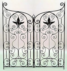 American Victorian architectural element gate iron - this would make a great headboard