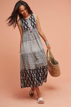 Raga Tiered Peasant Dress