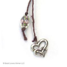Sterling Silver Heart Bookmark Beaded by beadloverskorner on Etsy