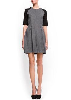 Pleated flecked dress  £19.99